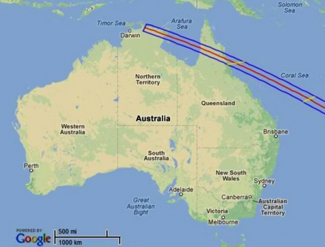 Solar eclipse dates in Brisbane