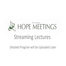 Third HOPE Meeting: Lectures by Nobel Laureates