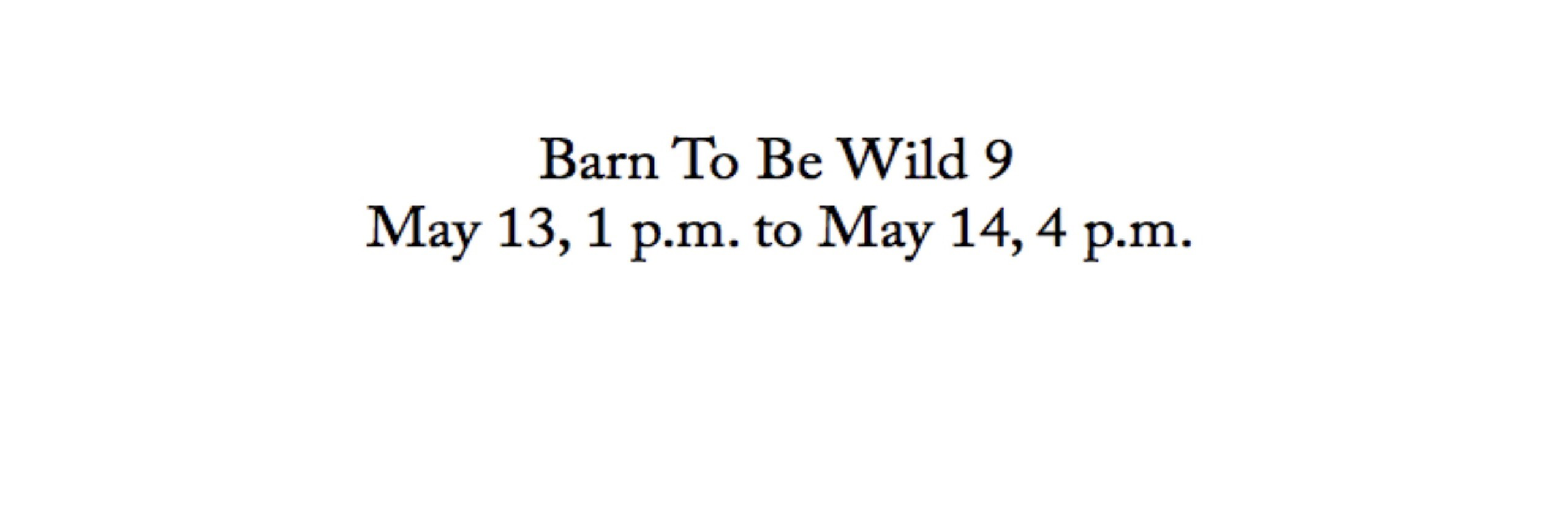 Barn To Be Wild 8