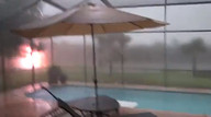 Lightning strike caught on video