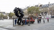 Zidane headbutt cast in bronze