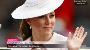 Kate shines in pink at final appearance before baby