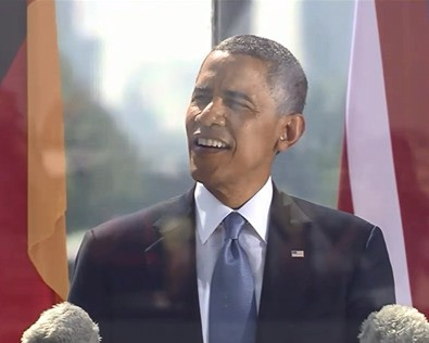Replay of Pr. Obama's speech at Bradenburg Gate