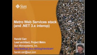 Metro, the GlassFish WebServices Stack