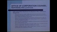 Budget Workshop - Corporation Counsel