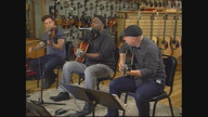 Jason Eskridge singing an R&B classic with Forest Miller (violin) and Steve Krenz (guitar)