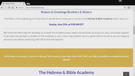 THR HEBREW AND BIBLE ACADEMY ANNOUNCEMENT