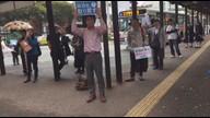 10月18日 福島みずほ副党首 福岡市大橋駅東口街宣中継