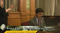 Open Budget Hearings Part Nine