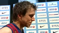 Mixed Zone Barcelona vs Panathinaikos Final Four 2012 - Istanbul