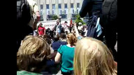LIVE Press Conference following BOEING Protest at NATO 5-21-12