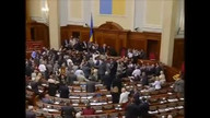 Fight erupts in Ukranian Parliament