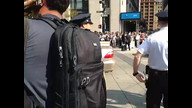 NYPD tackle #S17 protester
