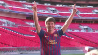 Messi waxwork unveiled at Wembley Stadium