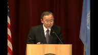 United Nations Secretary-General Ban Ki-moon at Drake University