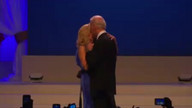 "Bidens dance to ""I can't stop loving you"""