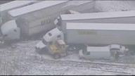 Raw: 40-car pileup closes Ind. Interstate