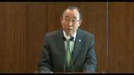 Ban Ki Moon Speaks Out Against Attacks On Gaza