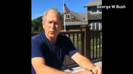 George Bush gets soaked in Ice Bucket Challenge