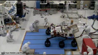First backward drive of the Curiosity (Mars Science Lab) rover