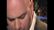 Dana White and Joe Rogan ringside