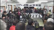 160124_宜野湾市長選 志村恵一郎候補 開票中の事務所の模様
