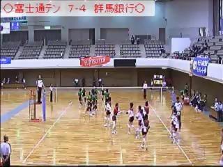 準決勝 富士通テンvs群馬銀行 後半(全日本実業団選手権)