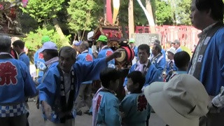 比良賀神社大祭(3)宮入り・唄舞い奉納