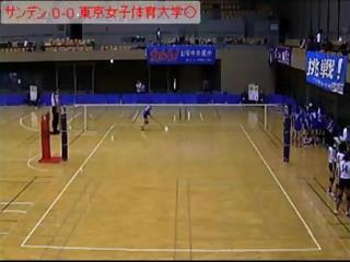サンデン vs 東京女子体育大学(所沢市長杯)