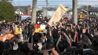 田縣神社 豊年祭(4) 神輿行列御旅所出発