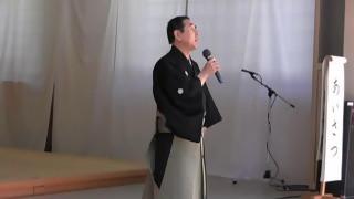 大縣神社梅華能1・能楽拍楽座あいさつ