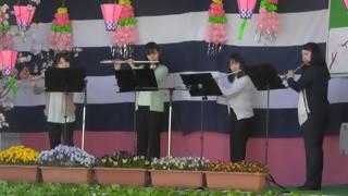 羽黒の桜まつり8・フルート演奏・Mandarino